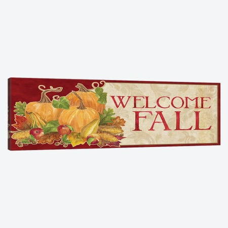 Fall Harvest Welcome Fall Sign Canvas Print #TRE136} by Tara Reed Canvas Art Print