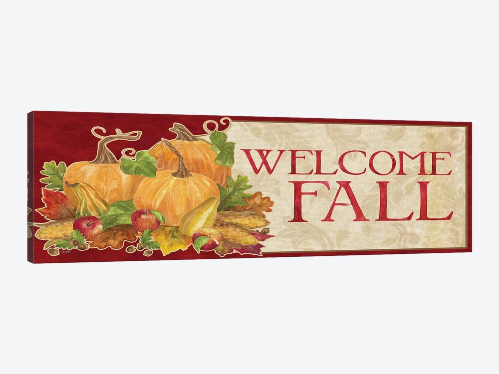 Fall Harvest Welcome Fall Sign by Tara Reed 1-piece Canvas Wall Art