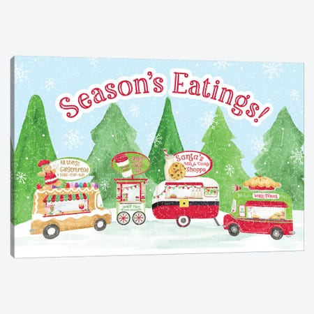 Food Cart Christmas - Seasons Eatings Canvas Print #TRE137} by Tara Reed Canvas Print