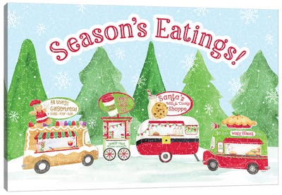 Food Cart Christmas - Seasons Eatings Canvas Art Print