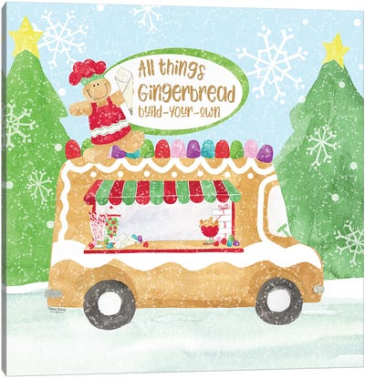 Food Cart Christmas I - Gingerbread Canvas Art Print