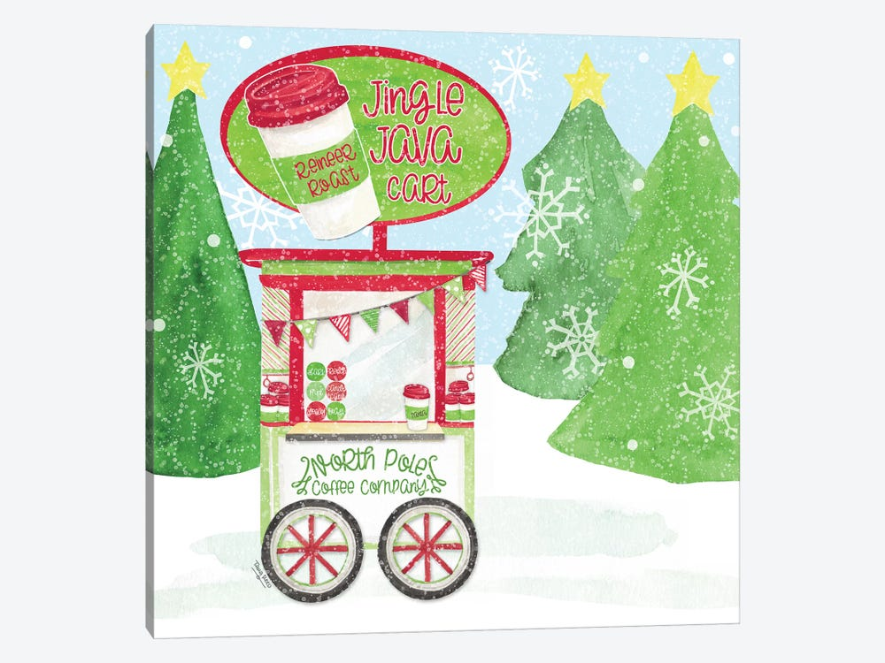 Food Cart Christmas II - Jingle Java by Tara Reed 1-piece Canvas Print