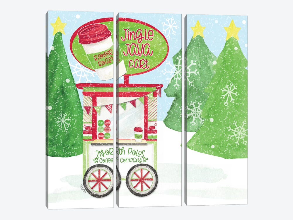 Food Cart Christmas II - Jingle Java by Tara Reed 3-piece Art Print