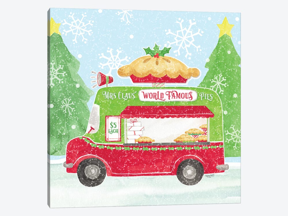 Food Cart Christmas III - Mrs Clause Pies by Tara Reed 1-piece Art Print