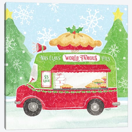 Food Cart Christmas III - Mrs Clause Pies Canvas Print #TRE140} by Tara Reed Canvas Art Print