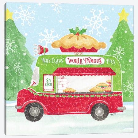 Food Cart Christmas III - Mrs Clause Pies Canvas Print #TRE140} by Tara Reed Canvas Art Print