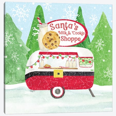 Food Cart Christmas IV - Santas Milk and Cookies Canvas Print #TRE141} by Tara Reed Art Print