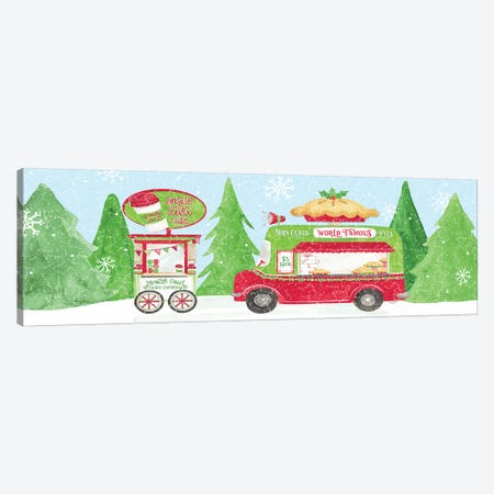 Food Cart Christmas I Canvas Print #TRE142} by Tara Reed Art Print