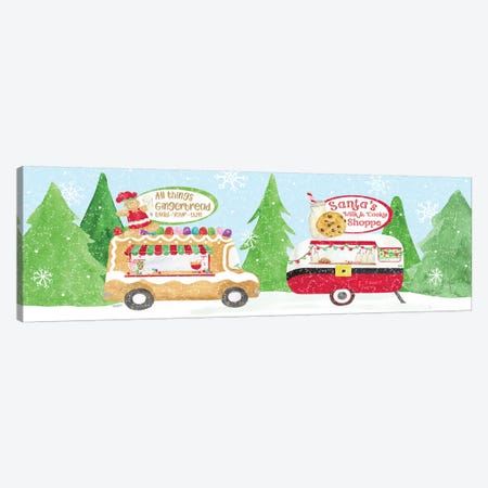 Food Cart Christmas II Canvas Print #TRE143} by Tara Reed Canvas Print
