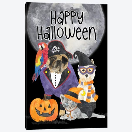 Fright Night Friends - Happy Halloween I Canvas Print #TRE144} by Tara Reed Canvas Art
