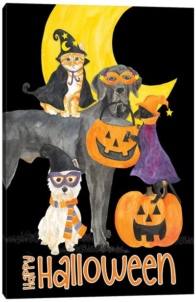 Fright Night Friends - Happy Halloween II Canvas Art Print