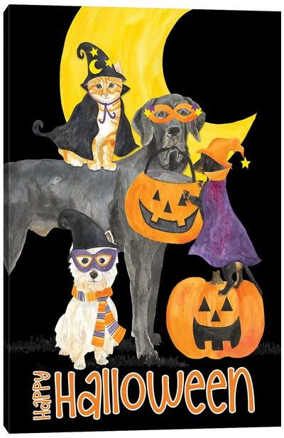 Fright Night Friends - Happy Halloween II Canvas Art Print