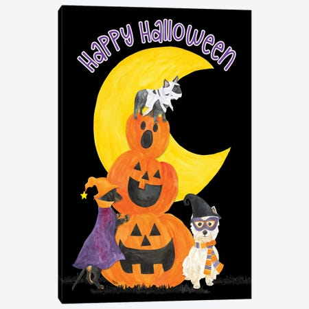 Fright Night Friends - Happy Halloween III Canvas Print #TRE146} by Tara Reed Canvas Wall Art