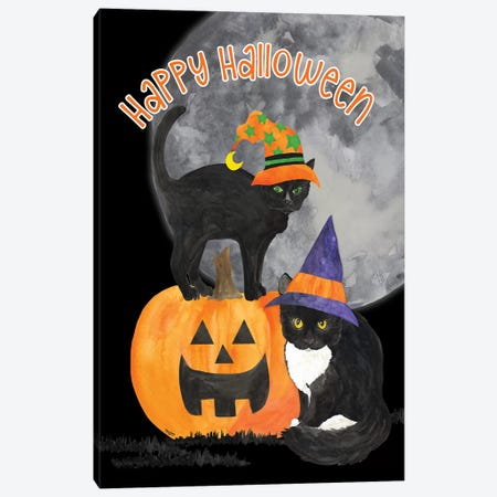 Fright Night Friends - Happy Halloween IV Canvas Print #TRE147} by Tara Reed Canvas Artwork