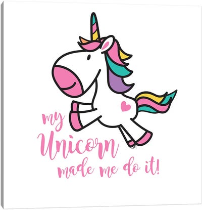 Happy Unicorn II Canvas Art Print