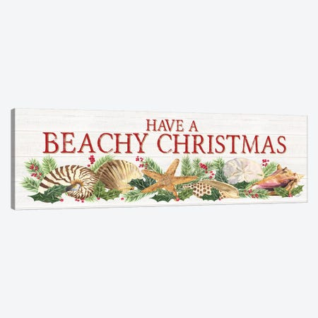 Have A Beachy Christmas Canvas Print #TRE154} by Tara Reed Canvas Print