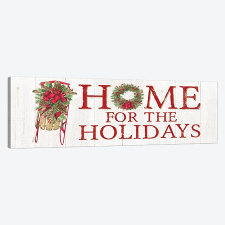 Home for the Holidays - Sled Sign Canvas Print #TRE158} by Tara Reed Canvas Art