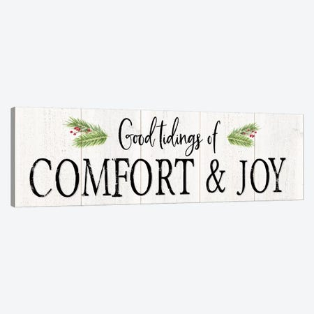 Peaceful Christmas - Comfort and Joy Canvas Print #TRE159} by Tara Reed Canvas Art