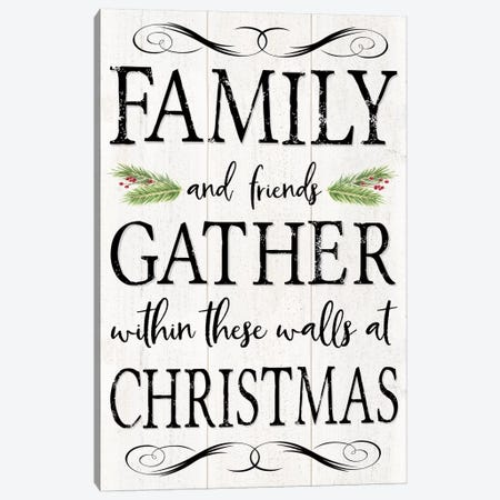 Peaceful Christmas - Family Gathers Canvas Print #TRE160} by Tara Reed Canvas Print
