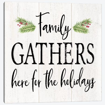 Peaceful Christmas I - Family Gathers Canvas Print #TRE163} by Tara Reed Art Print