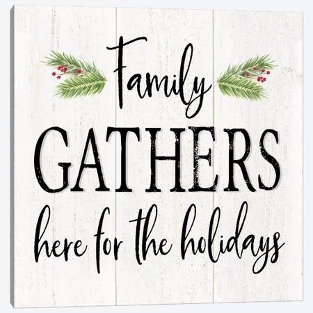 Peaceful Christmas I - Family Gathers Canvas Print #TRE163} by Tara Reed Art Print
