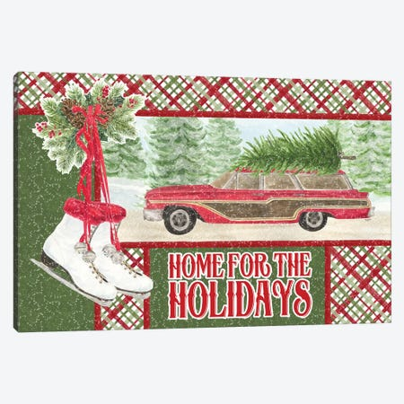Sleigh Bells Ring - Home for the Holidays Canvas Print #TRE166} by Tara Reed Canvas Artwork