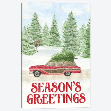 Sleigh Bells Ring - Seasons Greetings Canvas Print #TRE169} by Tara Reed Canvas Art Print