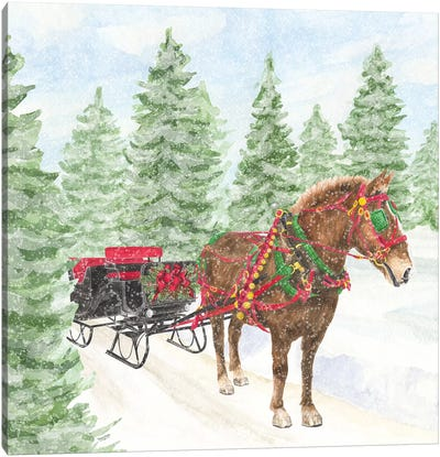 Sleigh Bells Ring III Sleigh Ride Canvas Art Print
