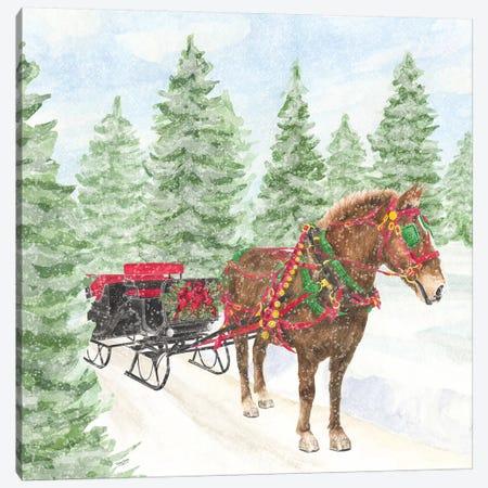 Sleigh Bells Ring III Sleigh Ride Canvas Print #TRE175} by Tara Reed Canvas Art Print