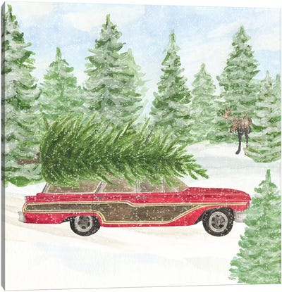 Sleigh Bells Ring IV - Tree Day Canvas Art Print