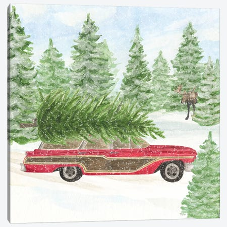 Sleigh Bells Ring IV - Tree Day Canvas Print #TRE176} by Tara Reed Canvas Print