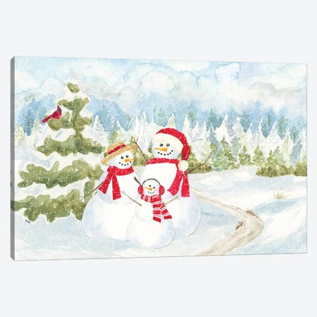 Snowman Wonderland - Family Scene Canvas Print #TRE180} by Tara Reed Art Print