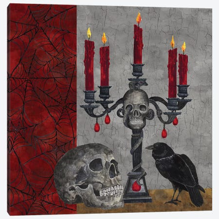 Something Wicked - Candlelabra  Canvas Print #TRE188} by Tara Reed Canvas Print