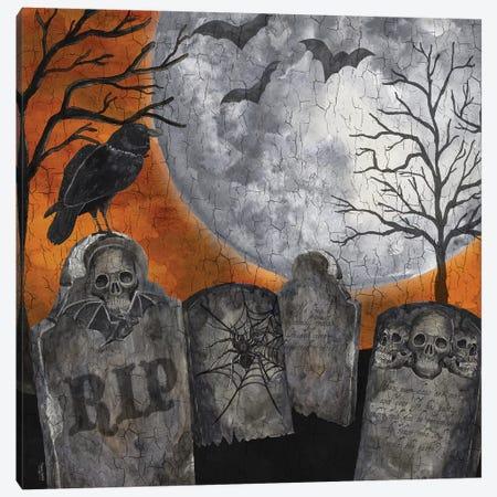 Something Wicked Graveyard II - RIP Canvas Print #TRE190} by Tara Reed Canvas Art