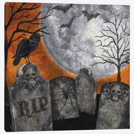 Something Wicked Graveyard II - RIP Canvas Print #TRE190} by Tara Reed Canvas Art