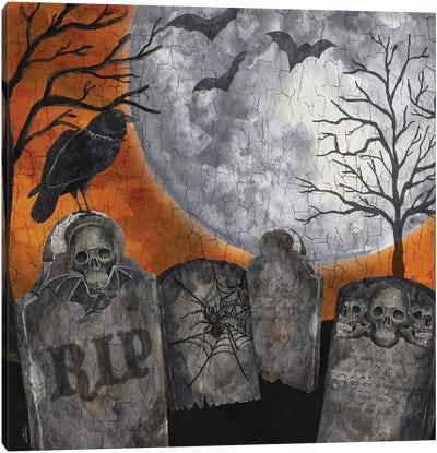 Something Wicked Graveyard II - RIP Canvas Art Print