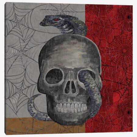 Something Wicked - Skull  Canvas Print #TRE191} by Tara Reed Canvas Art