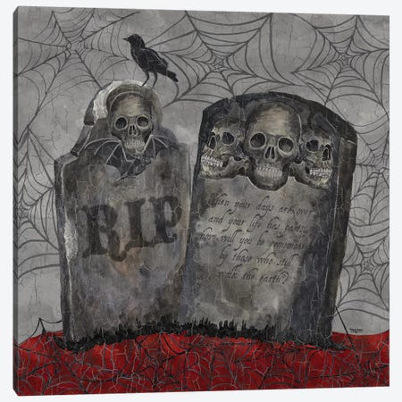Something Wicked - Tombstones Canvas Print #TRE192} by Tara Reed Canvas Art