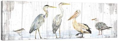 Birds of the Coast Rustic Panel Canvas Art Print