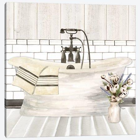 Farmhouse Bath I Tub Canvas Print #TRE195} by Tara Reed Canvas Art Print