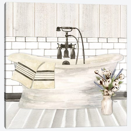 Farmhouse Bath I Tub Canvas Print #TRE195} by Tara Reed Canvas Art Print