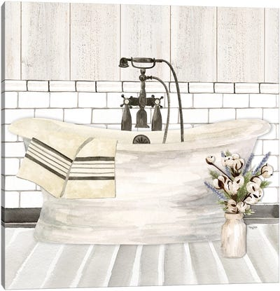Farmhouse Bath I Tub Canvas Art Print