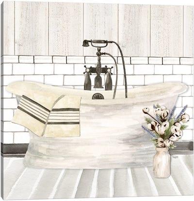 Farmhouse Bath I Tub Canvas Art Print