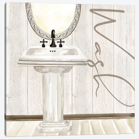 Rustic Bath I Wash Canvas Print #TRE203} by Tara Reed Canvas Art