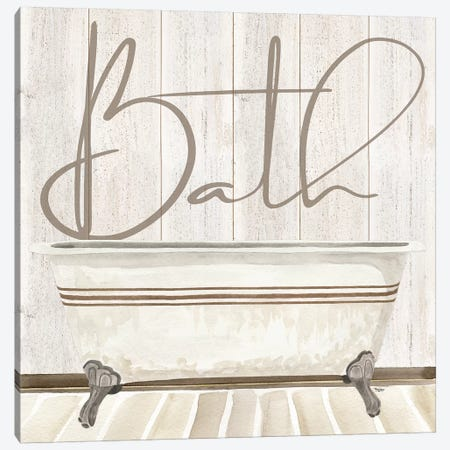 Rustic Bath II Bath Canvas Print #TRE204} by Tara Reed Canvas Print
