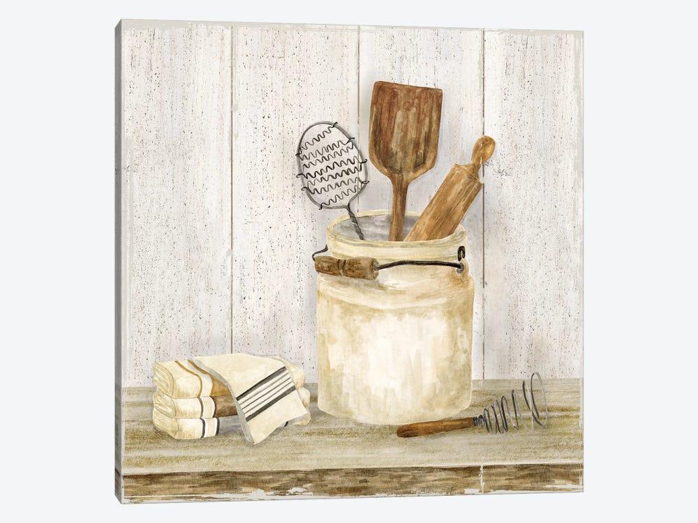 Vintage Kitchen I by Tara Reed 1-piece Canvas Art