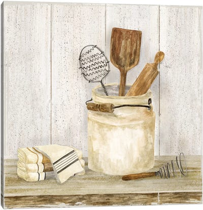 Vintage Kitchen I Canvas Art Print