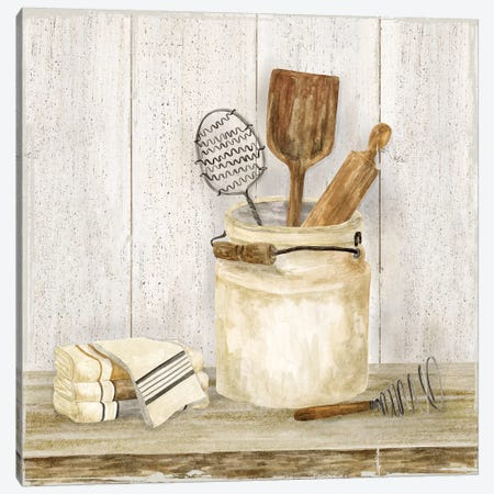 Vintage Kitchen I 3-Piece Canvas #TRE205} by Tara Reed Canvas Print