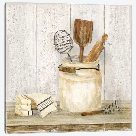 Vintage Kitchen I Canvas Print #TRE205} by Tara Reed Canvas Print