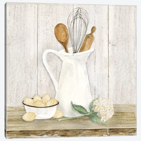 Vintage Kitchen II Canvas Print #TRE206} by Tara Reed Art Print
